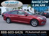 CLEAN CARFAX! Red and Ready! Don't let the miles fool