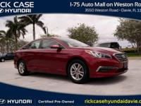 2015 Hyundai Sonata SE in Red. Cloth. A great deal in