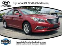 CARFAX One-Owner. Certified. Red 2015 Hyundai Sonata SE
