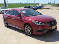 CARFAX One-Owner. Clean CARFAX. Red 2015 Hyundai Sonata