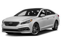 2015 Hyundai Black Sonata Certified. Clean CARFAX.