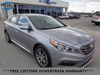 New Price! CARFAX One-Owner. Silver 2015 Hyundai Sonata