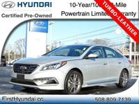 HYUNDAI CERTIFIED -TURBO -LEATHER - Recent Off Lease