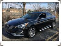 2015 hyundai sonata sport black with black leather