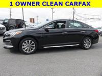 Carfax one owner vehicle. Phantom Black 2015 Hyundai