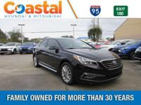 This 2015 Hyundai Sonata Limited in Black features: FWD