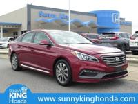 Options:  2015 Hyundai Sonata Sport|Red|Recent Arrival!