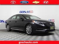 CARFAX One-Owner. Phantom Black 2015 Hyundai Sonata