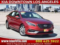 Red 2015 Hyundai Sonata Sport 4D Sedan FWD 6-Speed