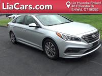 2015 Hyundai Sonata in Silver, 1 Owner!, Bluetooth