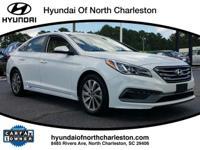 CARFAX One-Owner. Certified. White 2015 Hyundai Sonata