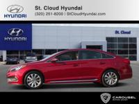 CARFAX One-Owner. Venetian Red 2015 Hyundai Sonata