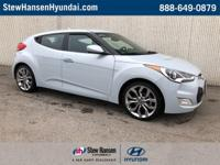 Certified. Ice Pearl 2015 Hyundai Veloster RE:FLEX FWD