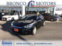 Black 2015 Hyundai Veloster FWD 6-Speed EcoShift Dual