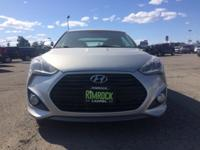 Silver 2015 Hyundai Veloster Turbo FWD 6-Speed Manual
