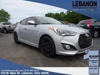 2015 Hyundai Veloster Turbo Silver FWD I4 6-Speed