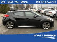Ultra Black 2015 Hyundai Veloster Turbo FWD 6-Speed