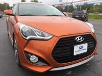 CARFAX One-Owner. Pearl 2015 Hyundai Veloster Turbo FWD