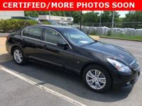 **INFINITI CERTIFIED** **RARE BLACK ON BLACK**