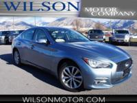 CARFAX One-Owner. Blue 2015 INFINITI Q50 AWD 7-Speed