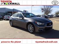 CARFAX One-Owner. Graphite Shadow 2015 INFINITI Q50