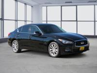 Clean CARFAX. Black 2015 INFINITI Q50 AWD 7-Speed