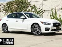 Clean CARFAX. Moonlight White 2015 INFINITI Q50 Premium