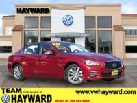 Options:  2015 Infiniti Q50 3.7 Premium Sedan|Red|V6