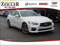 Moonlight White 2015 INFINITI Q50 Sport 19/27