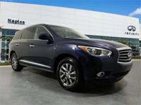 Certified. CARFAX One-Owner. 2015 INFINITI QX60 Blue