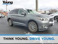 CARFAX One-Owner. Gray 2015 INFINITI QX60 AWD