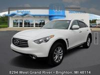 CARFAX One-Owner. Clean CARFAX. Whiteqx70 2015 INFINITI