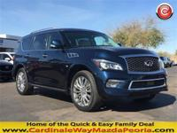 CARFAX One-Owner. Clean CARFAX. Blue 2015 INFINITI QX80