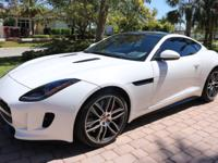 2015 Jaguar F-Type R Coupe Polaris White Exterior Jet /