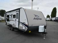 The 2015 Jay Feather is part travel trailer part Swiss