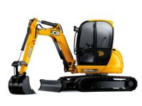 This JCB mini digger achieves its high performance