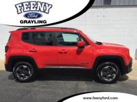 New Price! Colorado Red 2015 Jeep Renegade Latitude 4WD