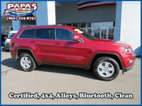 Clean CARFAX. Certified. Red 2015 Jeep Grand Cherokee