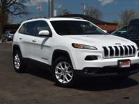Clean CARFAX. White 2015 Jeep Cherokee Latitude 4WD