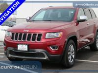 2015 Jeep Grand Cherokee Limited Red CARFAX One-Owner.