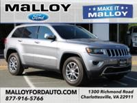 Clean CARFAX. 2015 Jeep Grand Cherokee Limited Silver