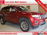 2015 Jeep Grand Cherokee Limited Maroon Bluetooth,