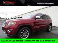 Deep Cherry Red Crystal 2015 Jeep Grand Cherokee