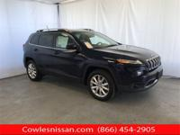 CARFAX One-Owner. Blue 2015 Jeep Cherokee Limited 4WD