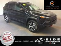This 2015 Jeep Cherokee Trailhawk is Brilliant Black
