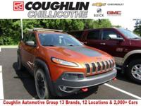New Price! This 2015 Jeep Cherokee Trailhawk in Mango