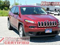 New Price! This 2015 Jeep Cherokee Sport in Deep Cherry