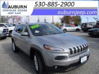 ONE OWNER, 4WD, TOWING PACKAGE! This 2015 Jeep Cherokee