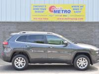 CARFAX One-Owner. Clean CARFAX. Grey 2015 Jeep Cherokee
