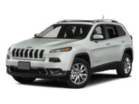 Bright White Clearcoat 2015 Jeep Cherokee Latitude 4WD